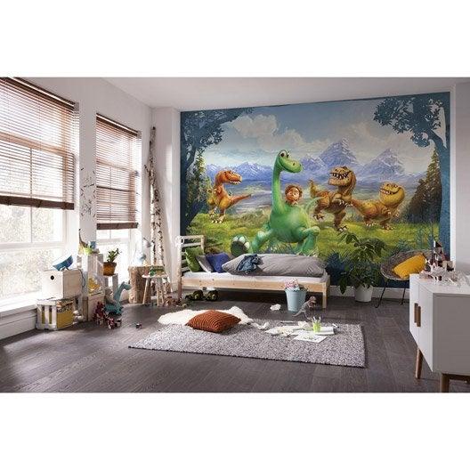 photo murale dinosaure vert orange papier disney leroy. Black Bedroom Furniture Sets. Home Design Ideas