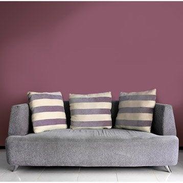 Papier peint intissé Beton métal rose