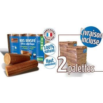 Bûches calorifiques WOODSTOCK 2 palettes, 208 sacs de 5 bûches
