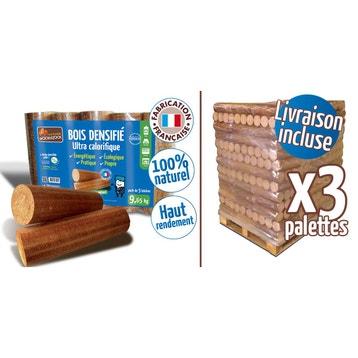 Bûches calorifiques WOODSTOCK 3 palettes, 312 sacs de 5 bûches c547e32cabc5
