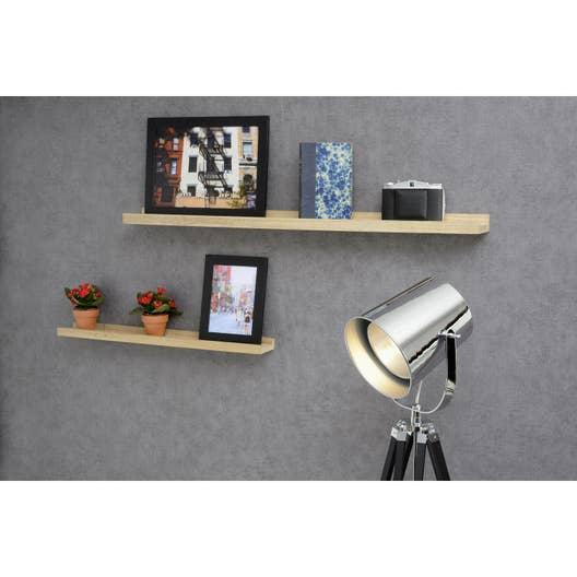 etag re murale naturel ch ne massif x p 8 cm mm leroy merlin. Black Bedroom Furniture Sets. Home Design Ideas