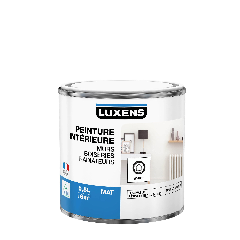 Peinture mur, boiserie, radiateur toutes pièces Multisupports LUXENS, blanc, mat