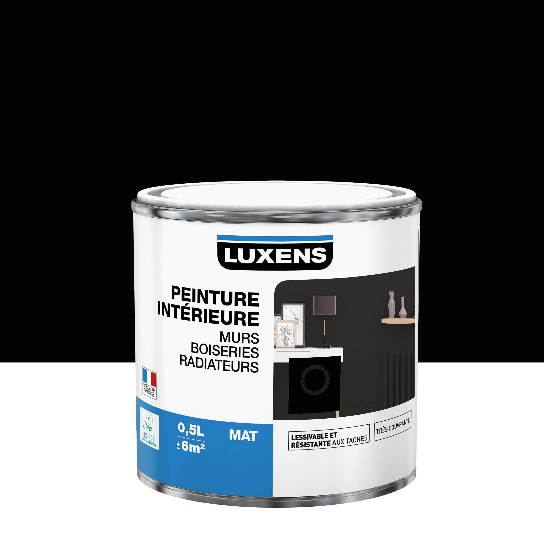 Peinture mur, boiserie, radiateur toutes pièces Multisupports LUXENS, noir, mat,