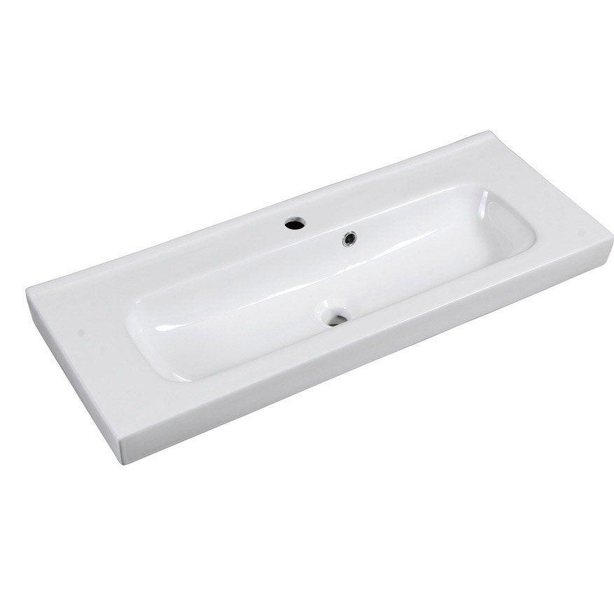 Plan vasque simple Remix Céramique 91 cm