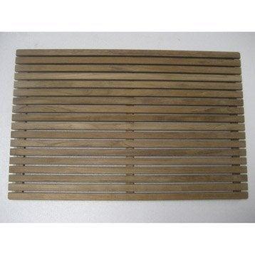 Tapis salle de bains et caillebotis accessoires et miroirs de salle de bain - Leroy merlin tapis bambou ...