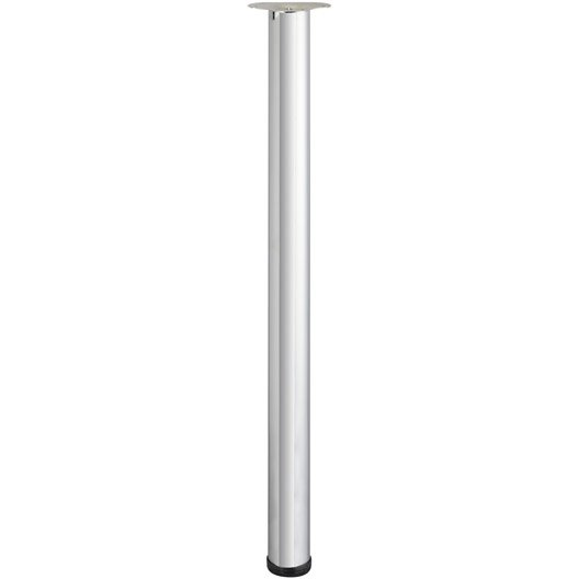 Pied de table cylindrique r glable acier chrom gris de - Pied table bar reglable ...