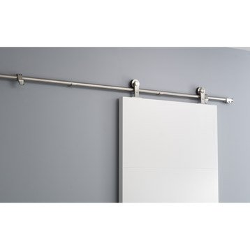 Rail coulissant Techno design, pour porte de largeur 83 cm maximum