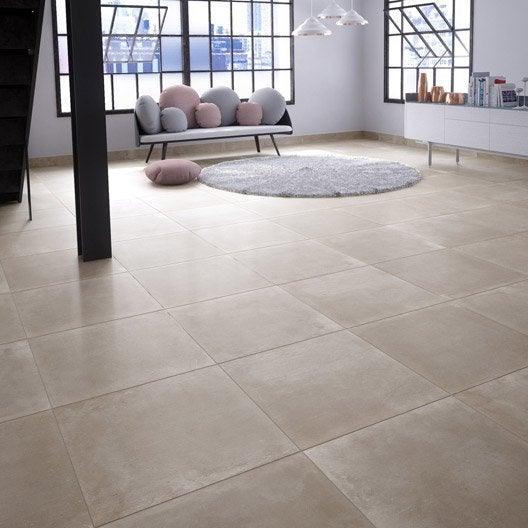 Carrelage sol et mur taupe effet b ton proton x cm leroy merlin - Carrelage imitation beton lisse ...