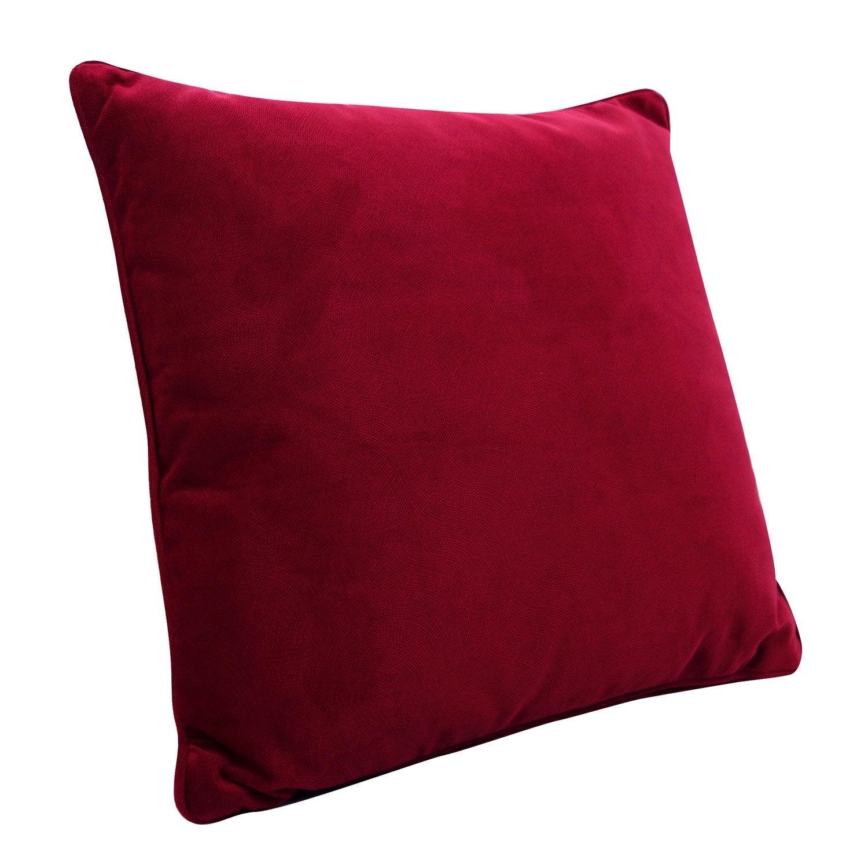 Coussin Cambridge, rouge l.60 x H.60 cm |