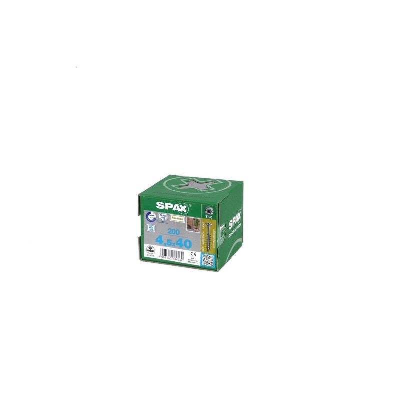 Boîte De 200 Vis 45x40mm Gris