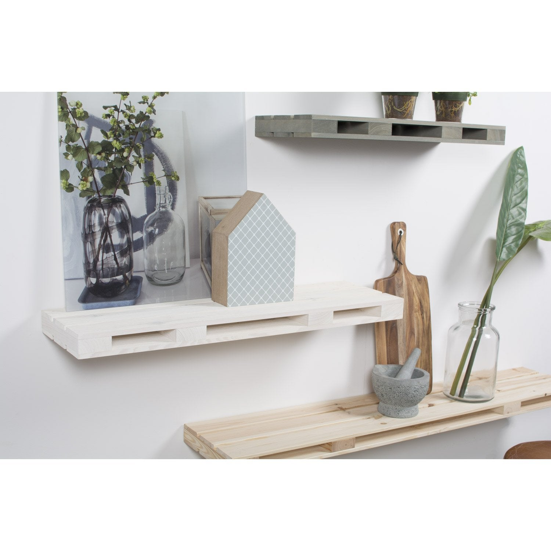 etag re palette blanc x cm mm leroy merlin. Black Bedroom Furniture Sets. Home Design Ideas