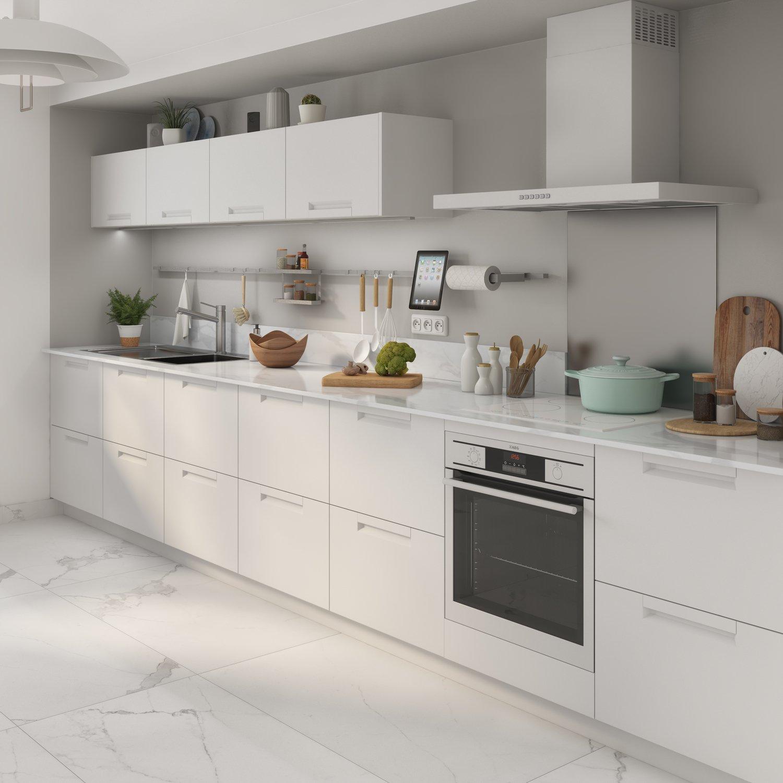 Cuisine blanche et carrelage assorti leroy merlin - Image carrelage cuisine ...