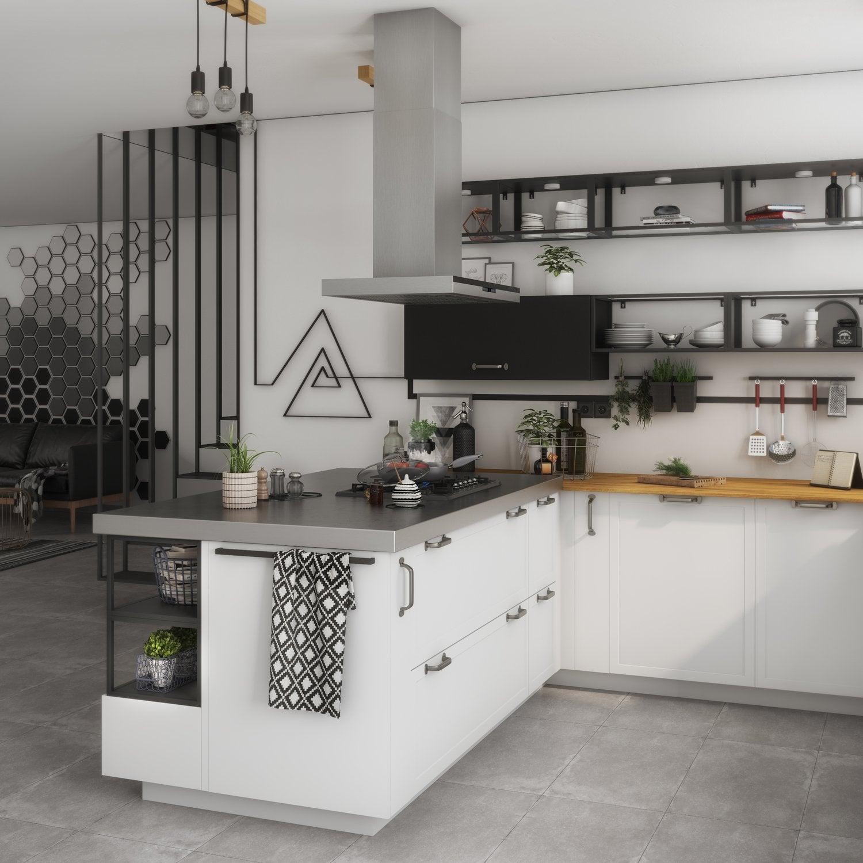 Grand Cuisine Moderne Blanche