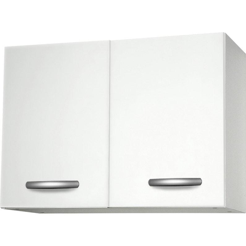 Meuble De Cuisine Haut 2 Portes Blanc H57 9x L80x P35 2cm