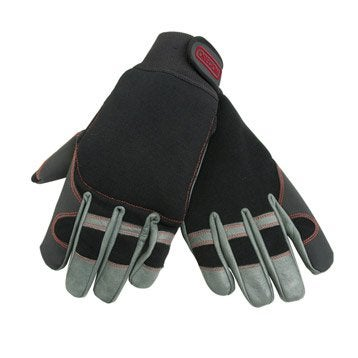 Gants spécial tronçonneuse OREGON noir et gris, taille 10 / XL