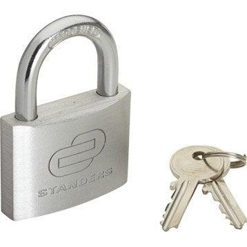 Cadenas à clé STANDERS aluminium, l.50 mm