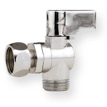 Robinet d 39 arr t wc robinet clapet a vanne droit - Robinet flotteur wc leroy merlin ...