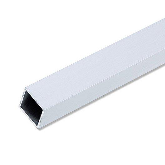 tube carr aluminium anodis l 1 m x l 1 cm x h 1 cm leroy merlin. Black Bedroom Furniture Sets. Home Design Ideas