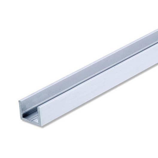 U rectangulaire aluminium anodis l 2 m x l cm x h 1 cm leroy merlin - Profile aluminium rectangulaire ...