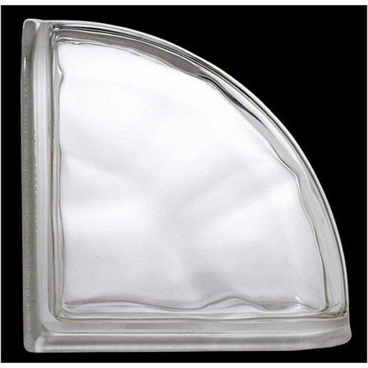 Brique de verre, transparent ondulé brillant | Leroy Merlin