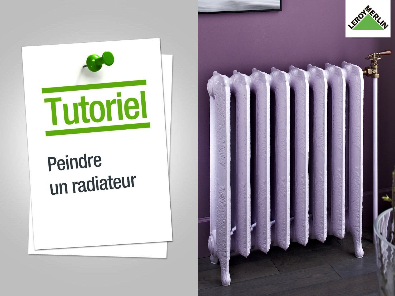 peindre un radiateur leroy merlin. Black Bedroom Furniture Sets. Home Design Ideas
