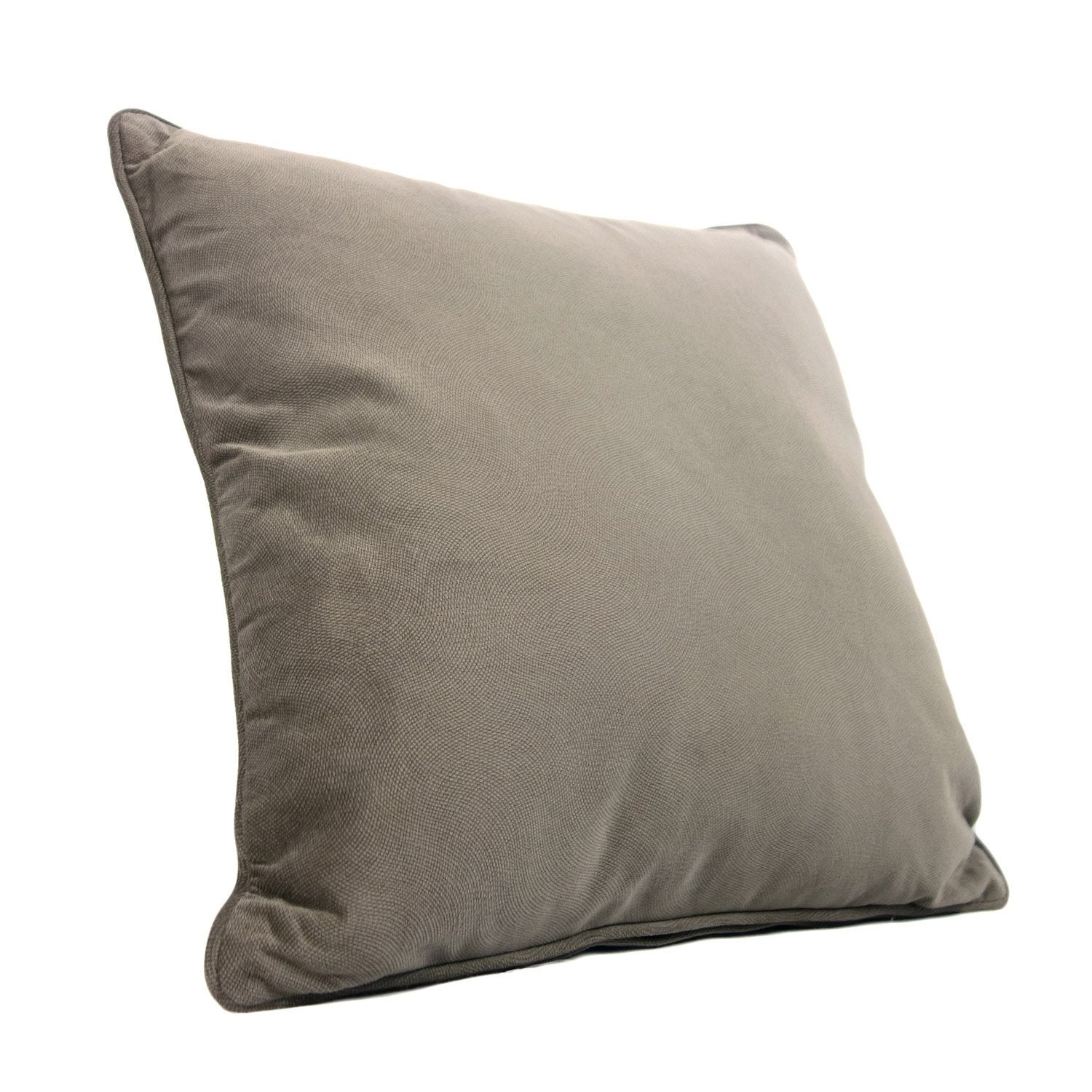 Coussin Cambridge, taupe l.45 x H.45 cm