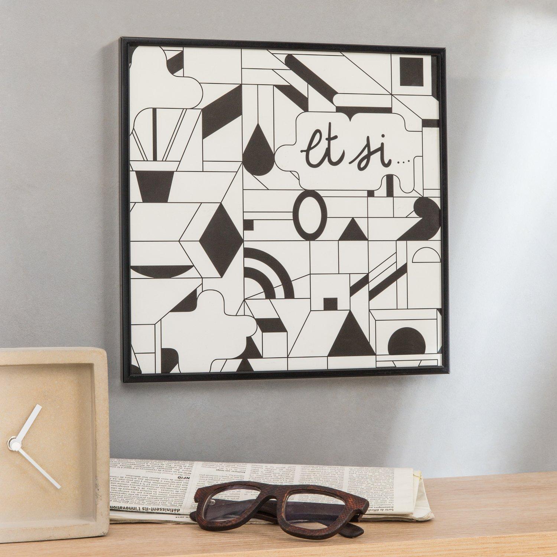un cadre photo en aluminium noir au style industriel leroy merlin. Black Bedroom Furniture Sets. Home Design Ideas