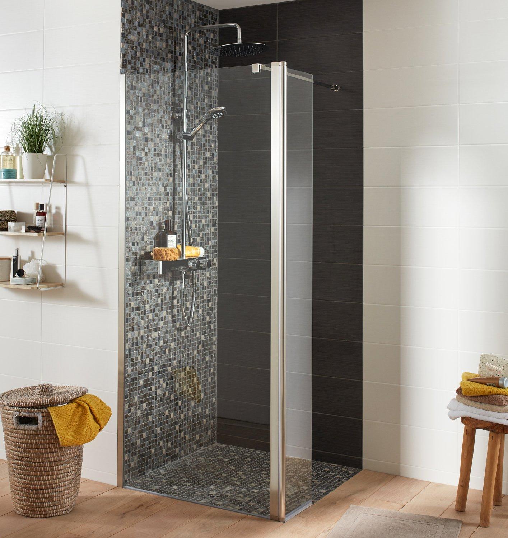 Une douche l 39 italienne avec mosa que leroy merlin - Petite salle de bain avec douche a l italienne ...