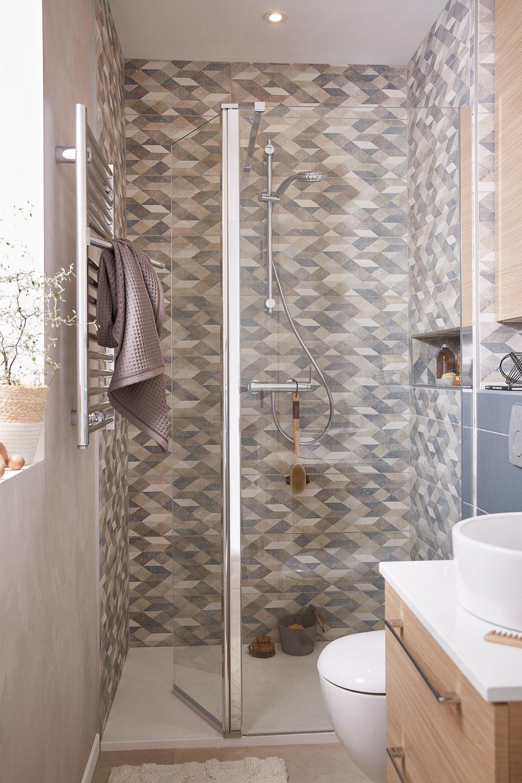 Une douche l 39 italienne dans moins de 3 5m leroy merlin - Modele de salle de bain a l italienne ...