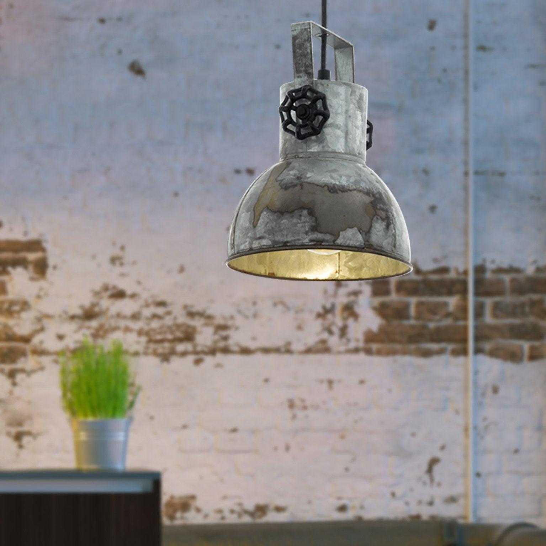 Suspension, industriel métal métal EGLO Barnstaple 1 lumière(s) D.17.5 cm