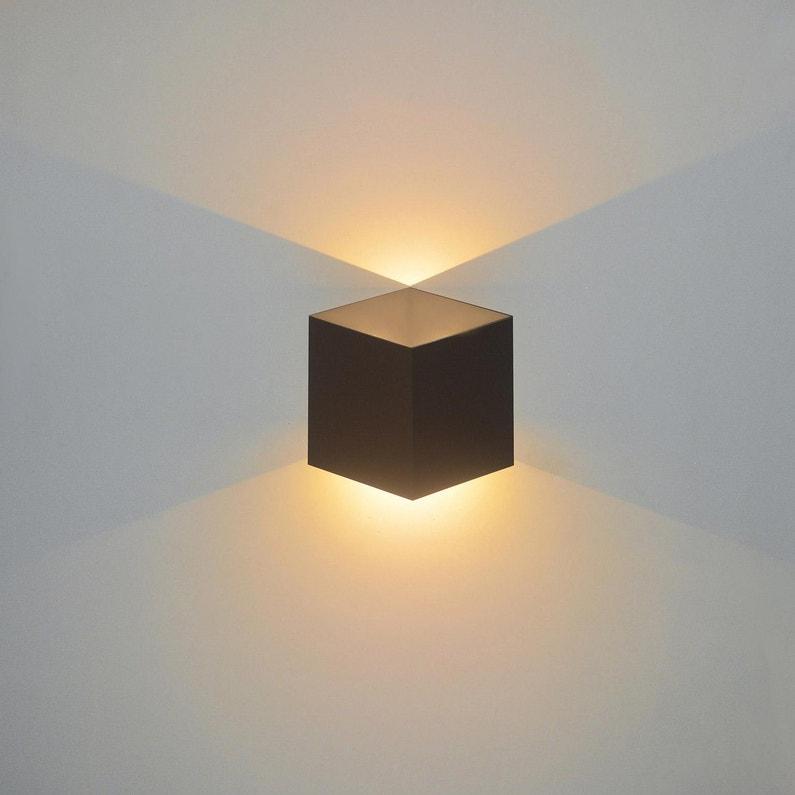 Applique Design Aluminium Noir Led Intégrée Lussiol Jazzy