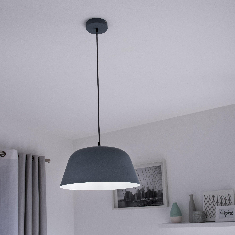 Suspension, scandinave métal gris INSPIRE Bells 1 lumière(s) D.40 cm