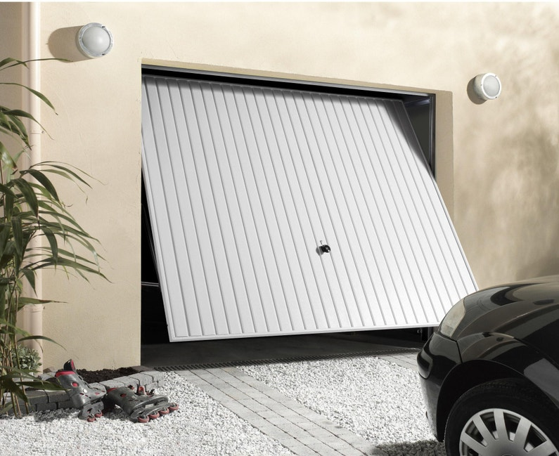 Porte De Garage Basculante Manuelle Débordante Sans Portillon H 200 X L 237 Cm