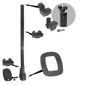 Embase / bride pour garde-corps KITAL aluminium gris H.15 x l.10 cm