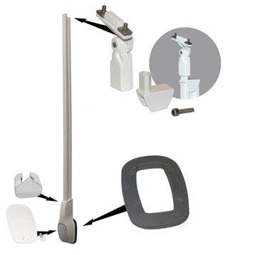 Embase / bride pour garde-corps KITAL aluminium blanc H.15 x l.10 cm