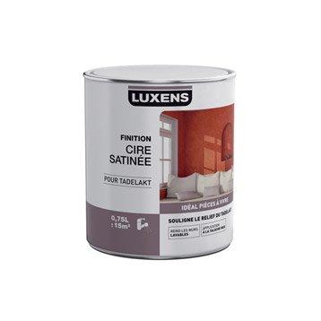 Peinture à effet, Cire satinée tadelakt LUXENS, incolore, 0.75 l
