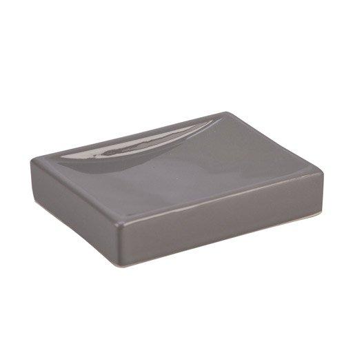 Porte-savon Happy, gris galet 3 | Leroy Merlin