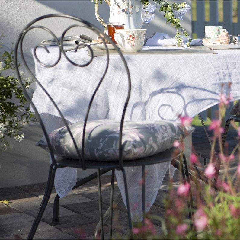 Chaise de jardin en acier Romantique gris graphite | Leroy Merlin