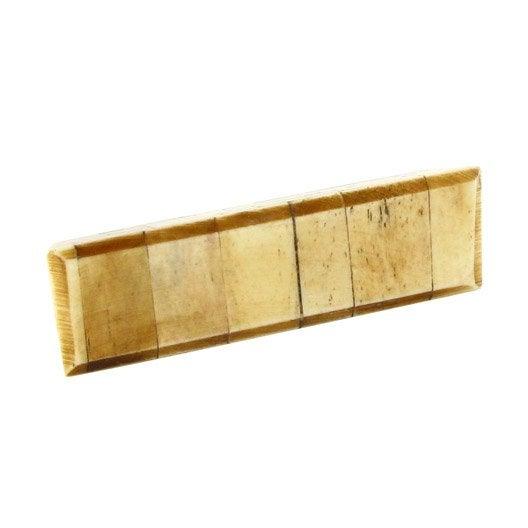 poign e de meuble exotique bois naturel entraxe 64 mm leroy merlin. Black Bedroom Furniture Sets. Home Design Ideas