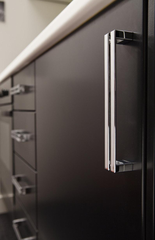 Fa Ade De Cuisine Noire Avec Poign E En M Tal: amazone toutes les poignees de portes de meuble de cuisine