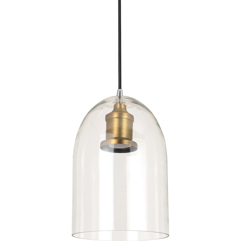 suspension e27 style industriel lirton verre transparent 1 x 60 w boudet leroy merlin. Black Bedroom Furniture Sets. Home Design Ideas