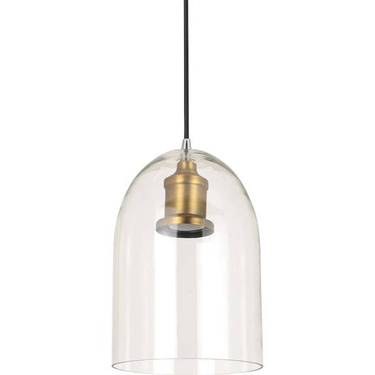 Suspension E27 Style Industriel Lirton Verre Transparent 1 X 60 W