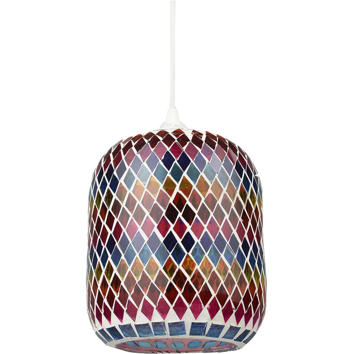 Suspension, e27 bohème Verone verre multicolore 1 x 60 W BOUDET