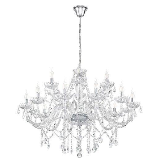 lustre e14 design basilano m tal transparent 18 x 40 w eglo leroy merlin. Black Bedroom Furniture Sets. Home Design Ideas