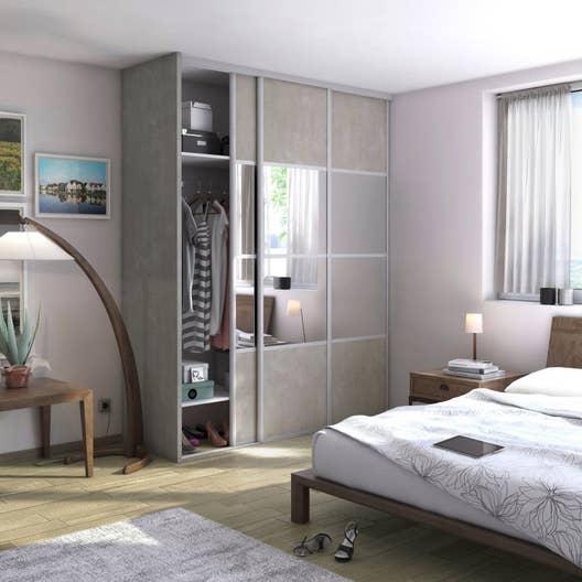 joue spaceo panneau de particules agglom r es m lamin effet b ton clair leroy merlin. Black Bedroom Furniture Sets. Home Design Ideas