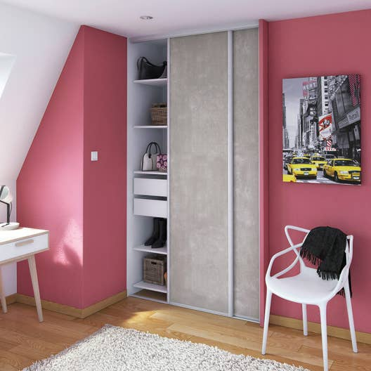 nez de cloison spaceo mdf rev tu feuille d cor peindre leroy merlin. Black Bedroom Furniture Sets. Home Design Ideas