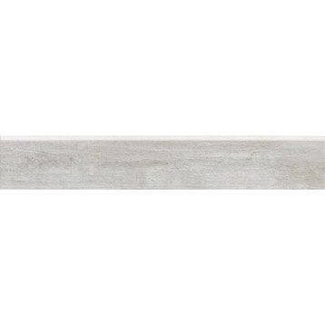 Lot de 2 plinthes Oural blanc ivoire, l.10 x L.60.4 cm