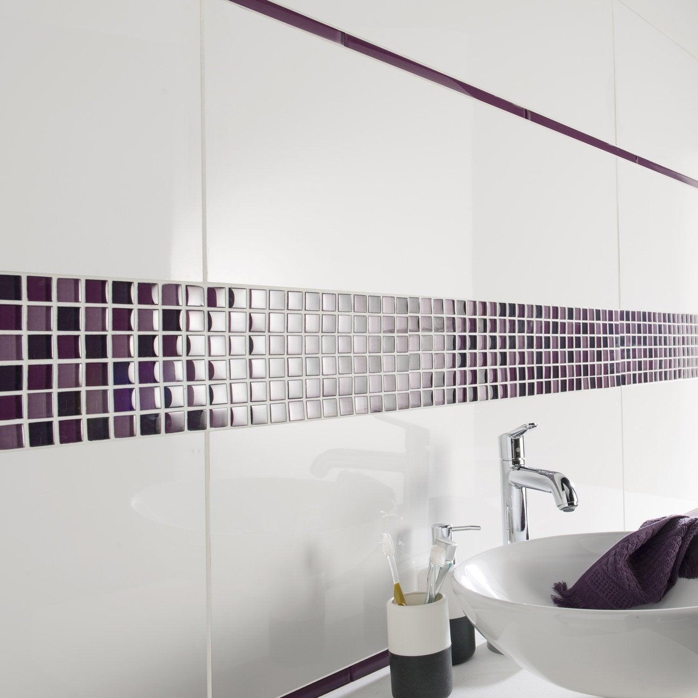 Faïence mur uni blanc brillant l.30 x L.90 cm, Purity | Leroy Merlin
