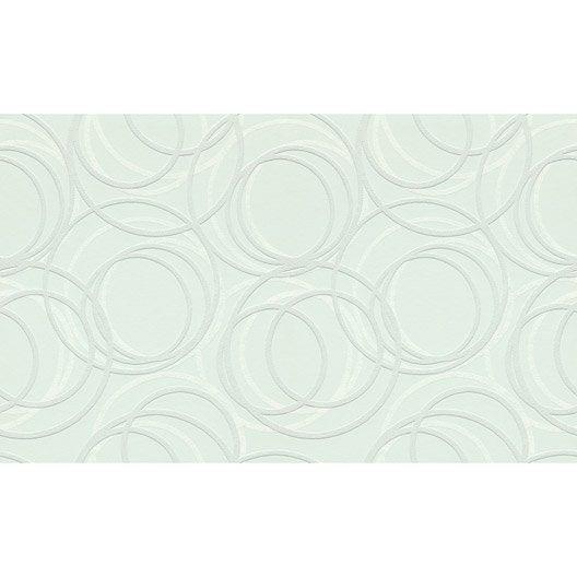 Revêtement de rénovation sur intissé Wallton 3D - 106 cm - Rond 250 g/m²