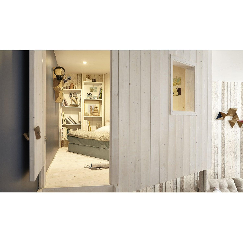 papier peint intiss planche bois marron with panneau bois. Black Bedroom Furniture Sets. Home Design Ideas